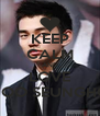 KEEP CALM AND LOVE YOO SEUNGHO - Personalised Poster A4 size