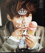 KEEP CALM AND LOVE YOON SHI YOON - Personalised Poster A4 size