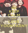 KEEP CALM AND LOVE YOONTAENY - Personalised Poster A4 size