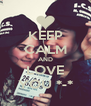 KEEP CALM AND LOVE YOU *-* - Personalised Poster A4 size