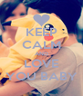 KEEP CALM AND LOVE YOU BABY - Personalised Poster A4 size