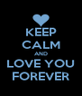 KEEP CALM AND LOVE YOU FOREVER - Personalised Poster A4 size