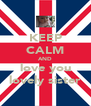 KEEP CALM AND love you lovely sister - Personalised Poster A4 size