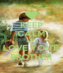 KEEP CALM AND LOVE YOU'R BROTHER - Personalised Poster A4 size