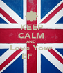 KEEP CALM AND Love Your BF ❤❤ - Personalised Poster A4 size