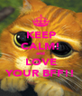 KEEP CALM! and LOVE YOUR BFF!! - Personalised Poster A4 size