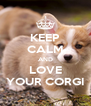 KEEP CALM AND LOVE YOUR CORGI - Personalised Poster A4 size