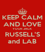 KEEP CALM AND LOVE YOUR JACK RUSSELL'S and LAB - Personalised Poster A4 size