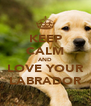 KEEP CALM AND LOVE YOUR LABRADOR - Personalised Poster A4 size