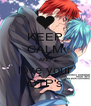 KEEP CALM AND love your OTP's - Personalised Poster A4 size