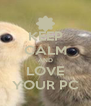 KEEP CALM AND LOVE YOUR PC - Personalised Poster A4 size