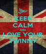KEEP CALM AND LOVE YOUR TWINNY - Personalised Poster A4 size
