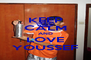 KEEP CALM AND LOVE YOUSSEF - Personalised Poster A4 size