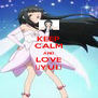 KEEP CALM AND LOVE ♥YUI♥ - Personalised Poster A4 size