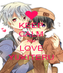 KEEP CALM AND LOVE YUKITERU - Personalised Poster A4 size