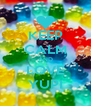KEEP CALM AND LOVE YUPI - Personalised Poster A4 size