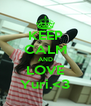 KEEP CALM AND LOVE Yuri.<3 - Personalised Poster A4 size