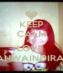 KEEP CALM AND LOVE  ZAHWAINDIRAA - Personalised Poster A4 size