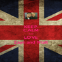 KEEP CALM And LOVE Zayn and Niall - Personalised Poster A4 size