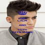 KEEP CALM AND LOVE ZAYN MALIK - Personalised Poster A4 size