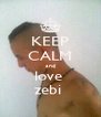 KEEP CALM and love  zebi  - Personalised Poster A4 size
