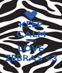 KEEP CALM AND LOVE ZEBRAS <3 - Personalised Poster A4 size