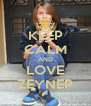 KEEP CALM AND LOVE ZEYNEP - Personalised Poster A4 size