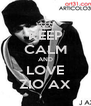KEEP CALM AND LOVE ZIO AX - Personalised Poster A4 size