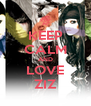 KEEP CALM AND LOVE ZIZ - Personalised Poster A4 size
