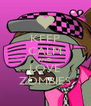 KEEP CALM AND LOVE ZOMBIES - Personalised Poster A4 size