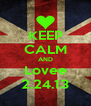 KEEP CALM AND Lovee 2.24.13 - Personalised Poster A4 size