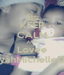 KEEP CALM AND Lovee AaliyahMichelleDrew - Personalised Poster A4 size