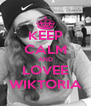 KEEP CALM AND LOVEE WIKTORIA - Personalised Poster A4 size