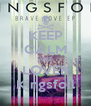 KEEP CALM AND LOVER Kingsfoil - Personalised Poster A4 size