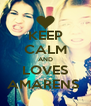 KEEP CALM AND LOVES AMARENS  - Personalised Poster A4 size