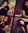 KEEP CALM AND LOVES Eli <3 - Personalised Poster A4 size