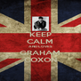 KEEP CALM AND LOVES GRAHAM COXON - Personalised Poster A4 size