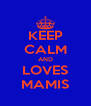 KEEP CALM AND LOVES MAMIS - Personalised Poster A4 size