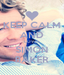 KEEP CALM AND LOVES SIMON BAKER - Personalised Poster A4 size