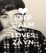 KEEP CALM AND LOVES ZAYN - Personalised Poster A4 size