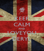 KEEP CALM AND LOVEYOU DERYL - Personalised Poster A4 size