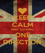 KEEP CALM AND  LOVING ONE DIRECTION - Personalised Poster A4 size