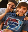 KEEP CALM AND @luke_brooks will follow you - Personalised Poster A4 size