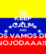 KEEP CALM AND LUNES NOS VAMOS DE RUMBA  NOJODAAA!!! - Personalised Poster A4 size