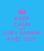 KEEP CALM AND LURV FARIHA AND 1D!!! - Personalised Poster A4 size