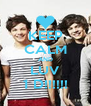KEEP CALM AND LUV 1 D!!!!!! - Personalised Poster A4 size