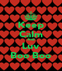 Keep Calm And Luv Boo Boo - Personalised Poster A4 size