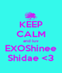 KEEP CALM and luv EXOShinee Shidae <3 - Personalised Poster A4 size