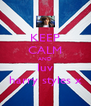 KEEP CALM AND luv harry styles x - Personalised Poster A4 size