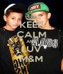 KEEP CALM AND LUV M&M - Personalised Poster A4 size